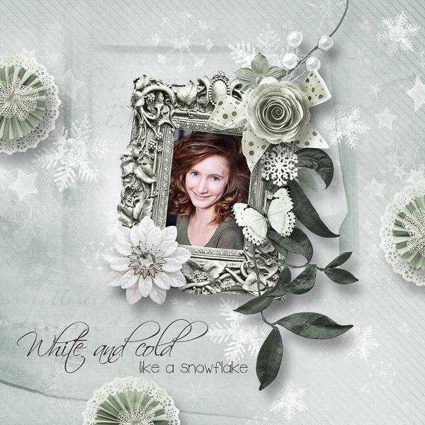 """""""The fall of a snowflake"""" - collab by MoosScrap & Angels Designs"""