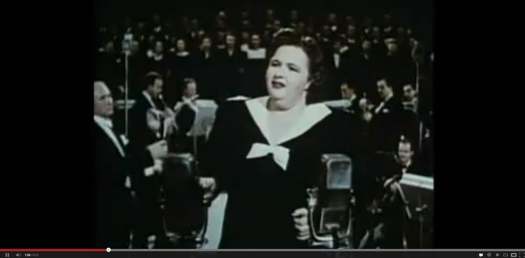 "Really awesome video - First singing of ""God Bless America"" - Irving Berlin Never published, 22 years before - way back in 1917. He gave it to Kate Smith and she worked  with her studio orchestra. She and Irving Berlin were not sure how the song would be received by the public, but both  they would not take any profits from God Bless America . Any profits would go to the Boy Scouts of America. Over the years, the Boy Scouts have received millions of dollars in royalties from this song."