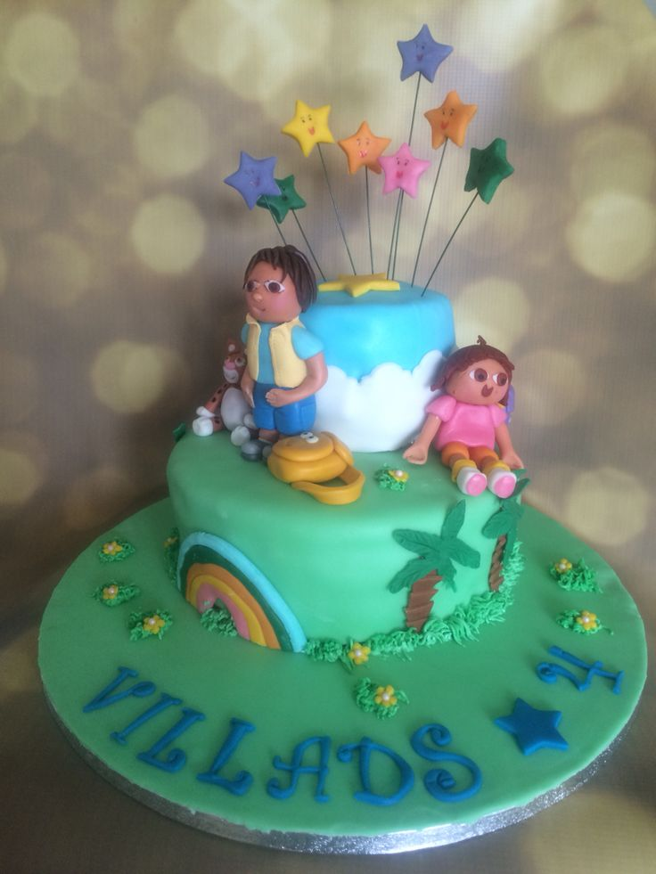 Dora and Diego birthdaycake