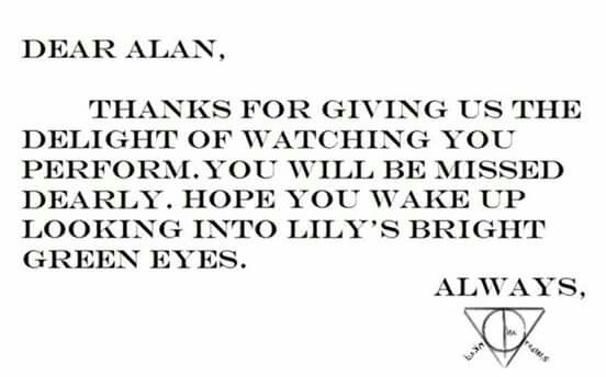 #always #AlanRickman