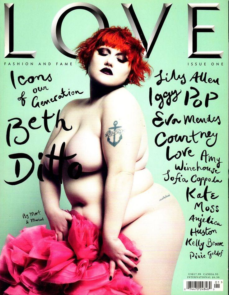 LOVE MAGAZINE SUMMER 2009 PREMIER ISSUE  BETH DITTO