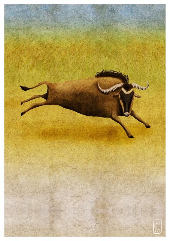 Wildebeest by Jago Silver