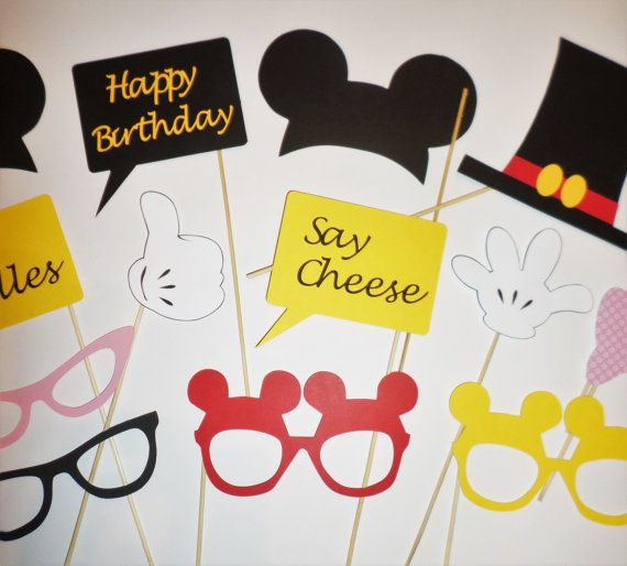 Mickey Mouse photo booth props Mickey Mouse by PartyPhotoProps