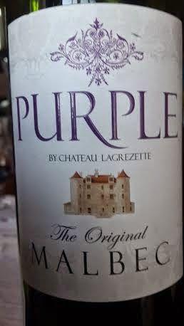 Miguel Chan: Purple by Chateau Lagrezette The Original Malbec 8...