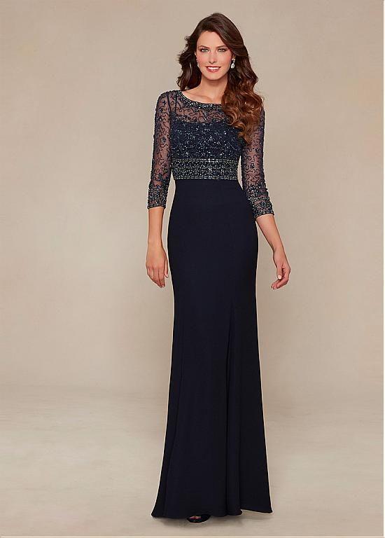 comprar Elegante gasa Bateau escote palabra de longitud Madre de los vestidos de la novia con diamantes de imitación de descuento en Dressilyme.com