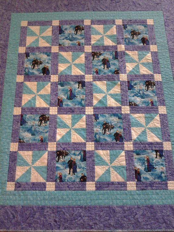 Frozen Quilt Handmade Quilt Forever Sisters by StitchersCupboard
