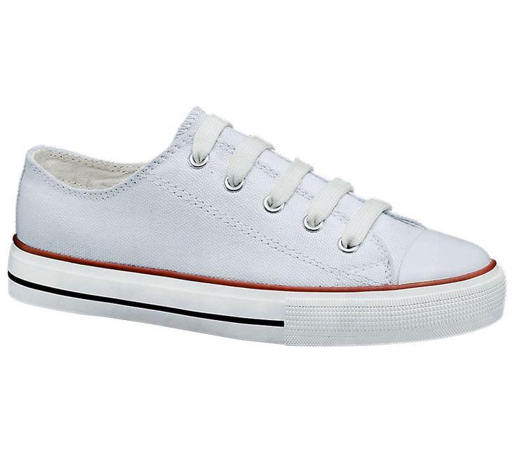 Graceland Lace Up Rood Wit Canvas Schoenen Meisjes