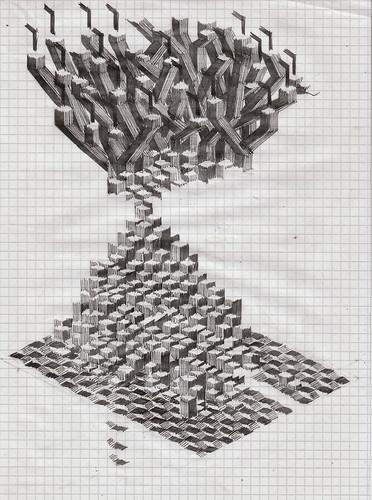 1 | A Painter Whose Canvases Combine Minecraft, Q-Bert, And M.C. Escher | Co.Design: business + innovation + design