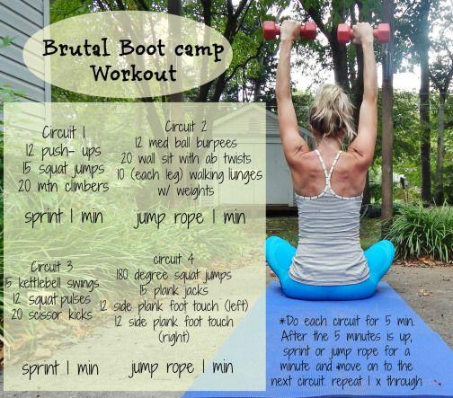 brutal boot camp workout
