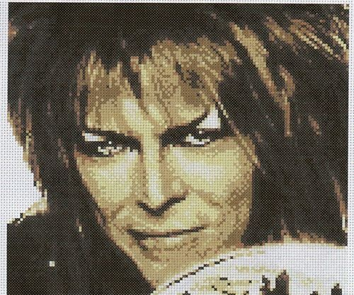 OMG David Bowie Labyrinth Cross Stitch Jareth!