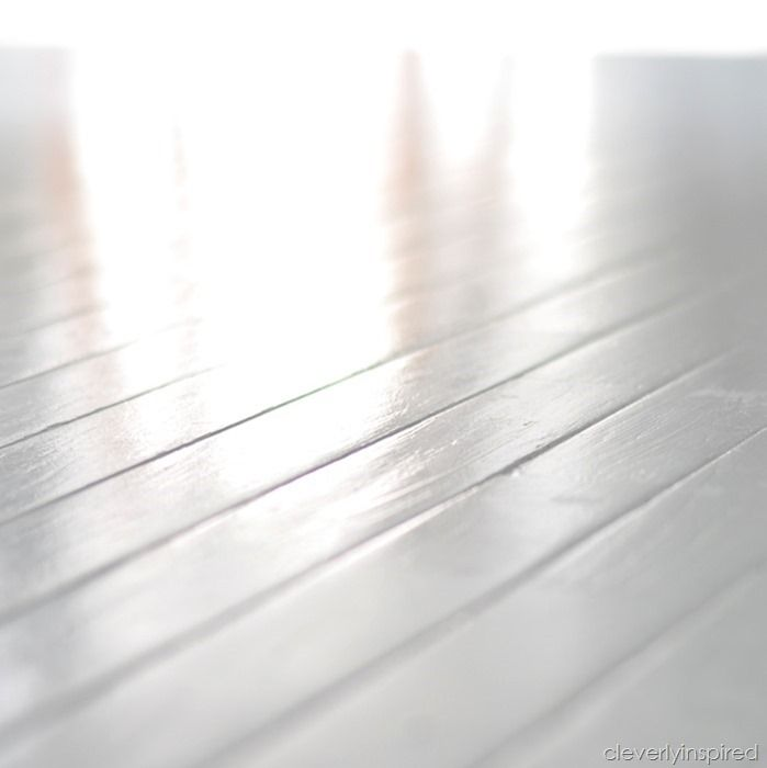 how to paint prefinished hardwood floors reveal @cleverlyinspired (5)