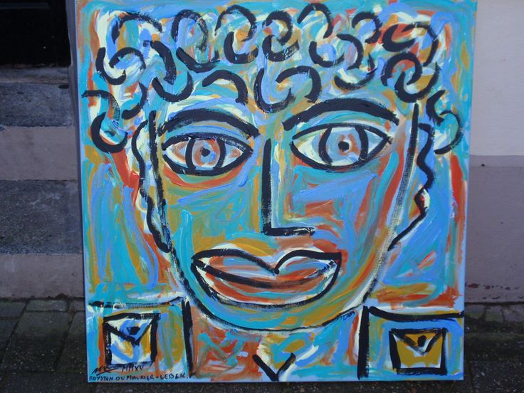 FACE IN A CROWD (SELF PORTRAIT) 2015 By Royston du Maurier-Lebek works being shown through Feb 2015 at Whistle Trago George Street Old Town Hastings