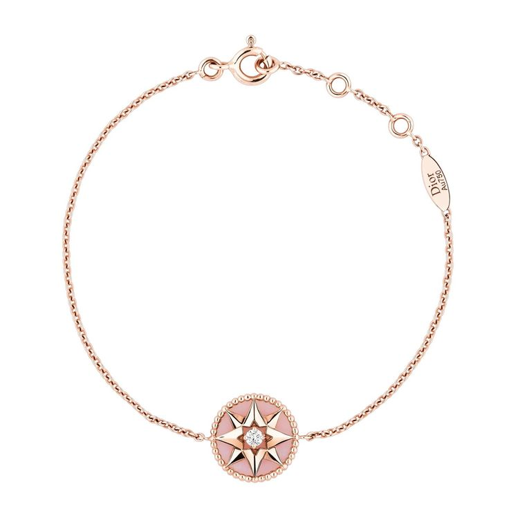 Dior Rose Des Vents pink gold pink opal and diamond bracelet