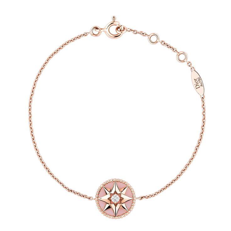 Dior Rose Des Vents pink gold pink opal and diamond bracelet