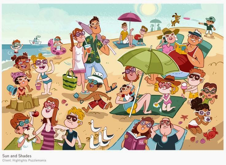 Confesiones y Realidades: En La Playa - Dibujos