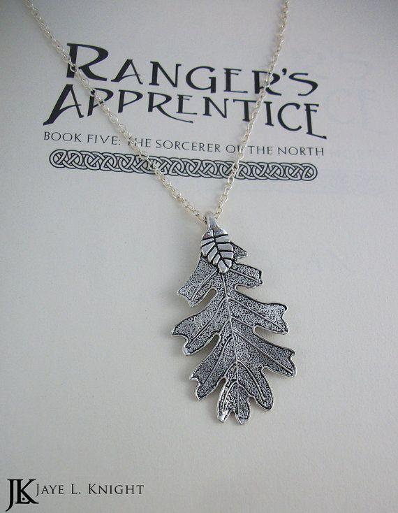 Silver Oak Leaf Ranger's Apprentice Inspired Pendant