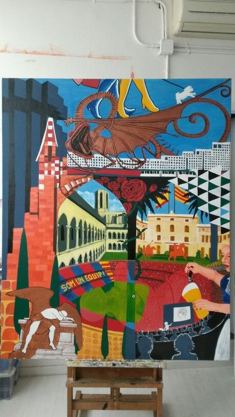 District Pedralbes - Les Corts, Barcelona Art Serie, 160x130cm, artist Karlijn Surminski
