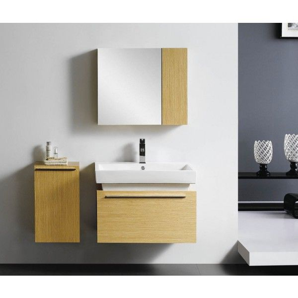 Moderna With Vessel Sink and Side Cabinet | Best Value Bathroom Furniture in Ireland.  Contemporary wall hung vanity unit with soft closing drawers and side cabinet.  Perfect for a medium to large sized bathroom.      Measurements  Description:  Dimension (MM): Main Cabinet760*500*550 Mirror Cabinet   700*150*600 Side Cabinet350*300*600