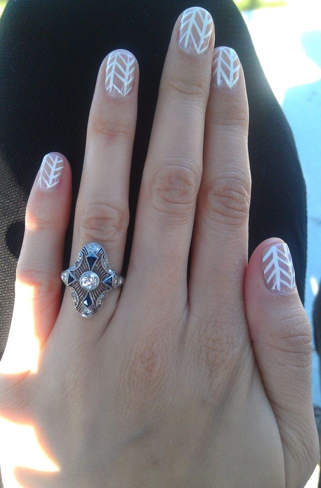 Graphic Nails And Engagement Ring  Nailed It  Pinterest. Shaving Wedding Rings. Contemporary Men's Wedding Rings. Pine Wood Engagement Rings. Peridot Side Stone Engagement Rings. 1 2 Carat Rings. Annello Engagement Rings. Bed Wedding Rings. Estate Rings