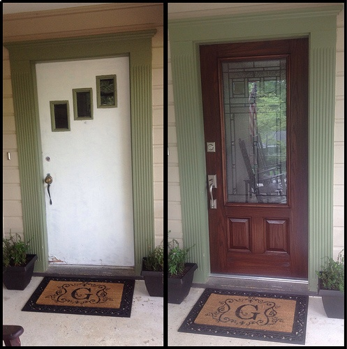 Front Door Makeover Before Amp After Decorating Ideas