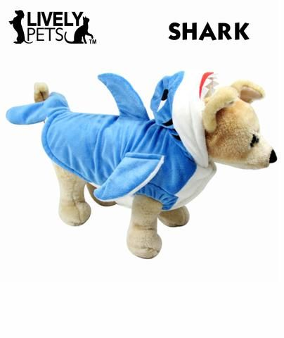 Shark Halloween Costume for Dogs and Cats | FREE SHIPPING from www.LivelyPetsOnline.com ! Check it out in our Halloween Superstore!