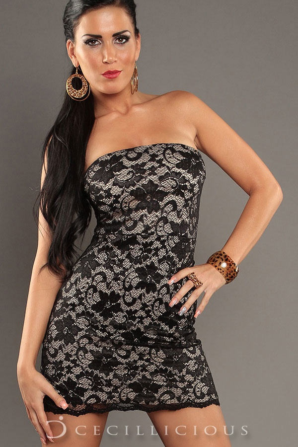 Pre-Order Chloe Lace Black Boobtube Dress online with Cecillicious for only $15.00. Delivery to Australia wide.
