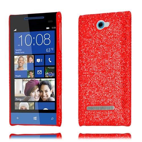 Glitter (Punainen) HTC 8S Suojakuori - http://lux-case.fi/glitter-punainen-htc-8s-suojakuori.html