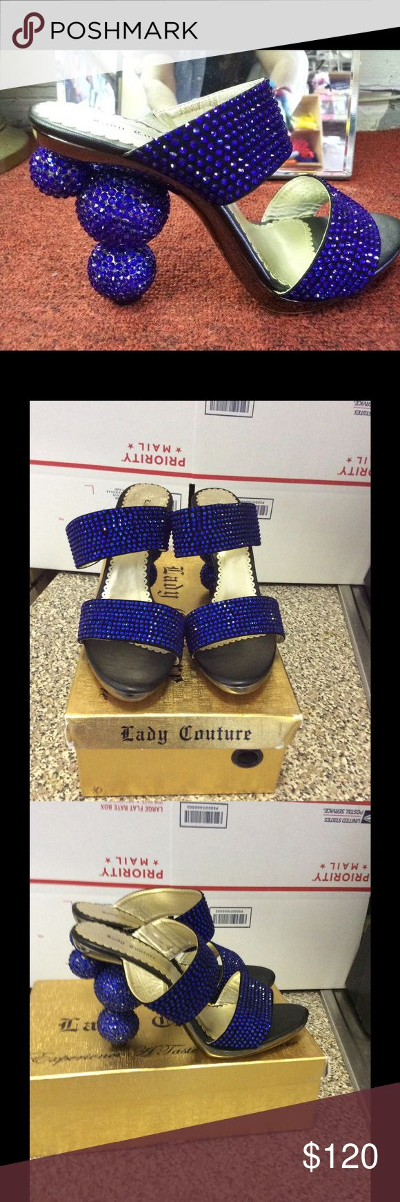 New lady couture heels Blue open back bubble heels . By Lady couture.   Heel height 4inches. Royal blue color Lady couture  Shoes Heels