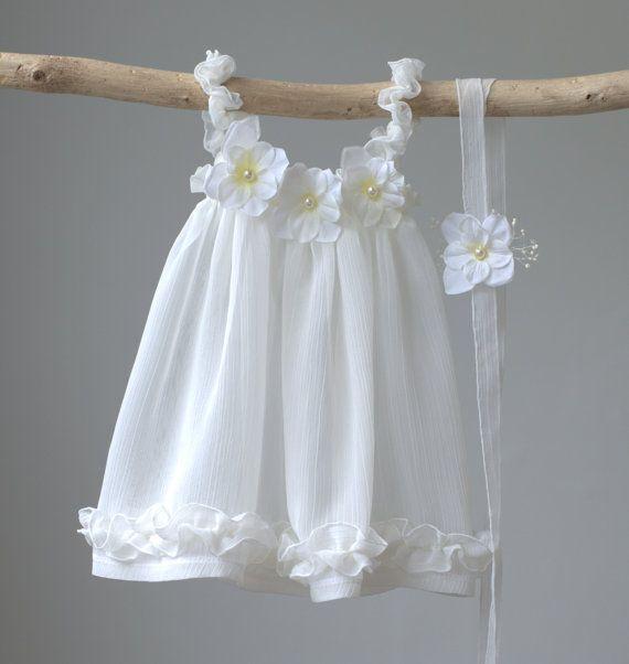 Newborn Summer Dress, Photography Prop Romance Dress, Newborn Prop Dress, Baby Summer Dress, Baby Dress, Ivory Chiffon Sun Dress – Sandra Maio