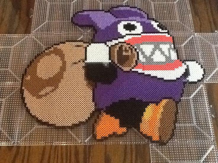 Nabbit from Super Mario Wii U using perler beads by Mariojedi