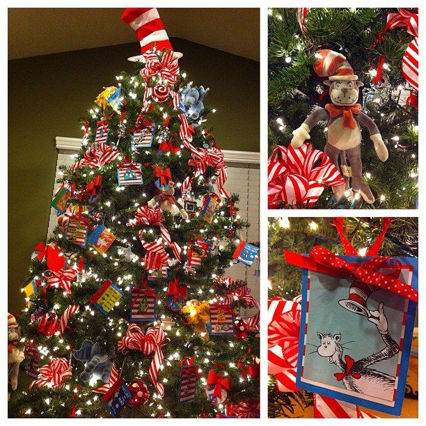 14 best library christmas tree images on Pinterest Christmas - dr seuss christmas decorations