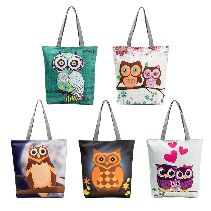 Cheap Women Shopping Shoulder Bag Totes Owls Print Zipper Pocket Online black | Tomtop  #men #women  #bags #fashion