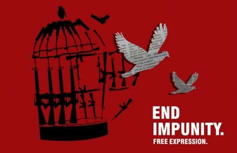 End Impunity Freedom of Expression poster
