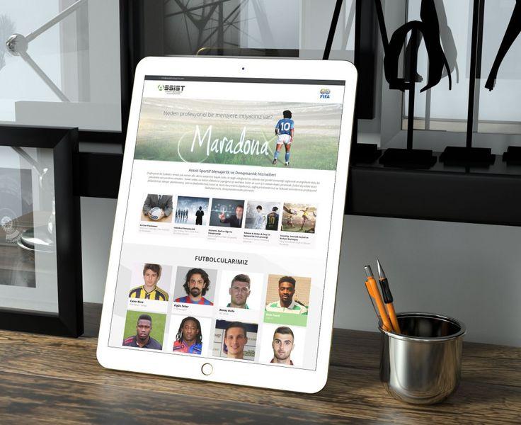 Sportif menajerlik firması için mobil uyumlu web sitesi tasarımı