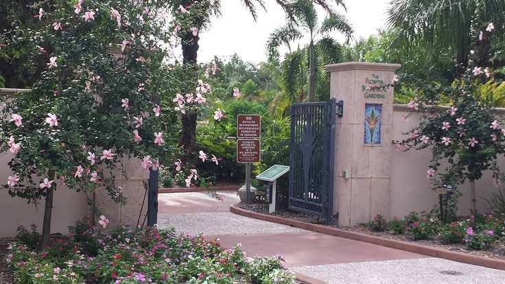 Entrance to The Florida Botanical Gardens in Seminole, FL.