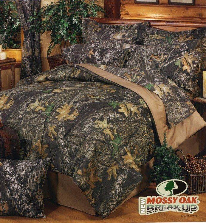Camo bed set.