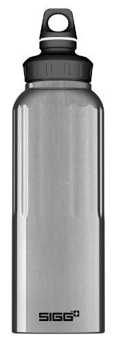 Sigg Wide Mouth Traveller Water Bottle (Alu, 1.5-Litre) by Sigg. $20.37. The perfect solution for ice cubes and isotonic drinks. Any SIGG bottle top fits. Large mouthpiece. Easy to clean. Compatible with standard water filters.. Save 11%!