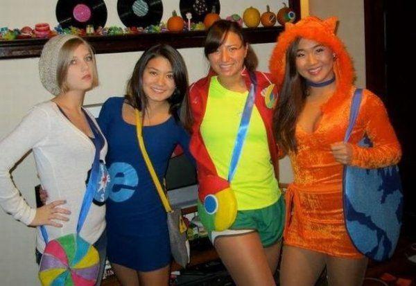 Safari, IE, Chrome, Firefox Halloween