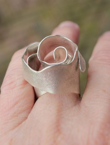 "Ring | Mia Peters.  ""Rose""  Sterling silver"