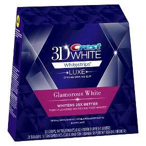 Crest 3D White Luxe Whitestrips Glamorous White Teeth Whitening Kit - 14 Treatments : Target $35