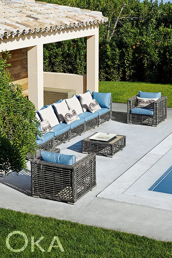 Introduce a fresh breath of contemporary style into your outdoor space with OKA's Marquesas garden furniture range.