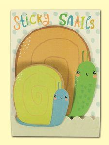 Rachel Ellen Designs Shaped Sticky Notes - Sticky Snails: https://www.stationeryheaven.nl/Rachel-Ellen-Designs-LAL3-Sticky-Snails-Shaped-Sticky-Notes