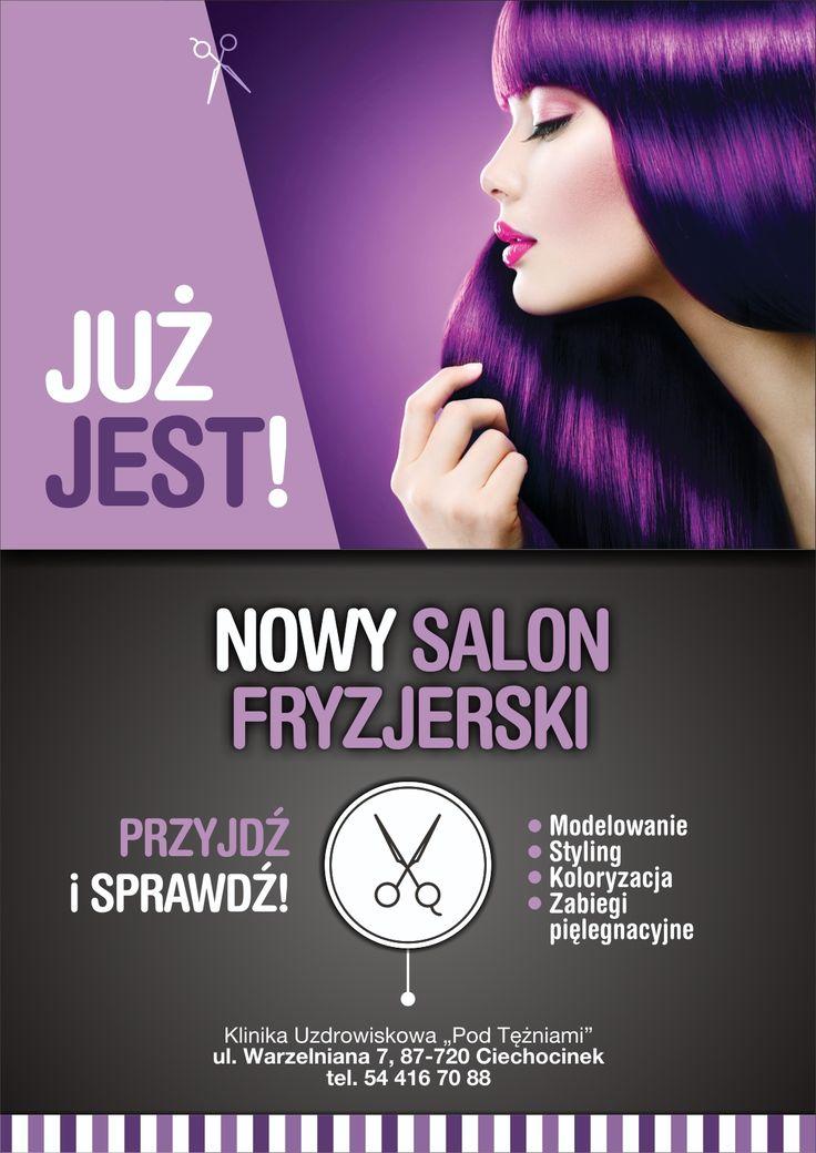 Salon Fryzjerski w Klinice Pod Tężniami, najnowsze trendy, modne fryzury, pielęgnacja, odżywianie. #ciechocinek #uroda #fryzury #wygląd