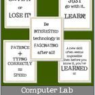 This pack contains 5 motivating posters for your computer lab!  Copyright 2013 Christina R. Gill-Lindsey...