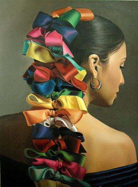 colorful hair ribbons mexican