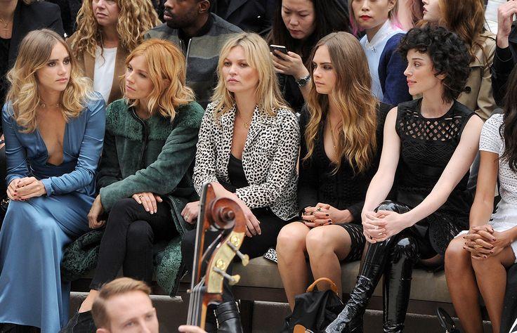 Alexa Chung, Cara Delevingne, Kate Moss y Sienna Miller son solo algunas de las it-girls británicas que invadieron los front rows de la semana de la moda londinense con espectaculares looks.
