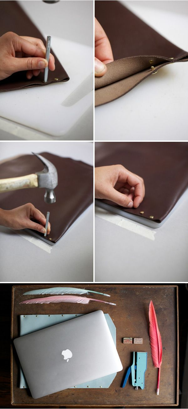 Leather Laptop Case DIY