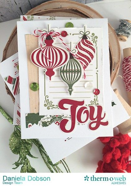 Create Holiday Joy with Echo Park Paper and Zots! | Therm O Web by Daniela Dobson