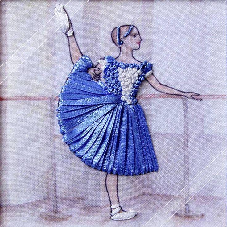 Набор для вышивания лентами Woman-Hobby ВЛБС0005 Серия Балерины