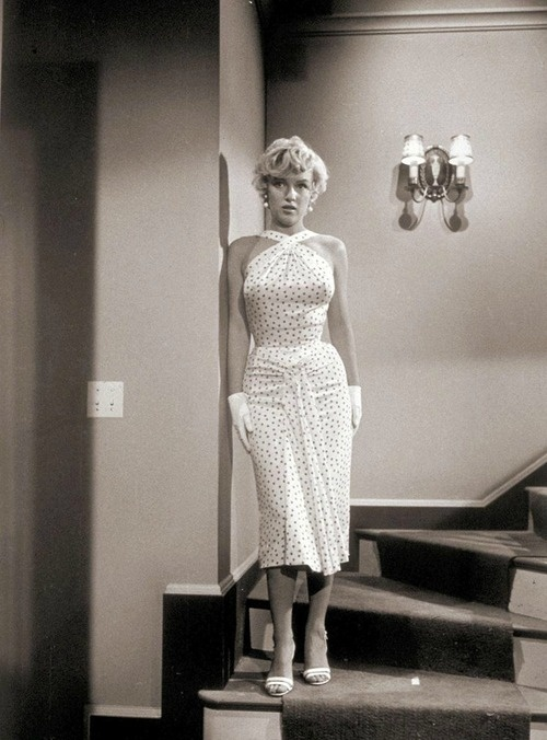 Marilyn photographed by Sam Shaw during the filming of The Seven Year Itch, 1954.